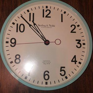 Sterling & Noble Teal Wall Clock